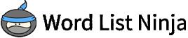 Word List Ninja Logo